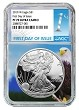 2019 W 1oz Silver Eagle Proof NGC PF70 Ultra Cameo - Eagle Core - First Day Issue