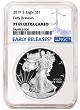 2019 S 1oz Silver Eagle Proof NGC PF69 Ultra Cameo - Early Releases - Blue Label