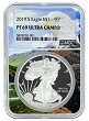 2019 S 1oz Silver Eagle Proof NGC PF69 Ultra Cameo - Eagle Core