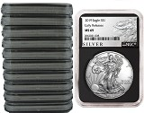 2019 1oz Silver American Eagle NGC MS69 - Early Releases - ALS Label - Black Core - 10 Pack - PRESALE