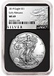 2019 1oz Silver American Eagle NGC MS69 - Early Releases - ALS Label - Black Core