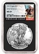 2019 1oz Silver American Eagle NGC MS69 - Early Releases - Black Label - Black Core