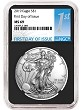 2019 1oz Silver American Eagle NGC MS69 - First Day Issue - Black Core