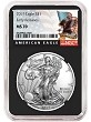 2019 1oz Silver American Eagle NGC MS70 - Early Releases - Black Label - Black Core - PRESALE