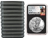 2019 1oz Silver American Eagle NGC MS70 - Early Releases - Black Label - Black Core - 10 Pack - PRESALE