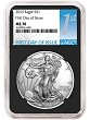 2019 1oz Silver American Eagle NGC MS70 - First Day Issue - Black Core