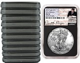 2019 1oz Silver American Eagle NGC MS70 - Early Releases - Liberty Coin Act - Black Core - 10 Pack - PRESALE