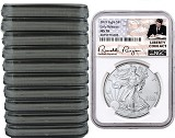 2019 1oz Silver American Eagle NGC MS70 - Early Releases - Liberty Coin Act - White Core - 10 Pack - PRESALE