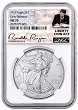 2019 1oz Silver American Eagle NGC MS70 - Early Releases - Liberty Coin Act - White Core