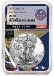 2019 1oz Silver American Eagle NGC MS70 - First Day Issue - West Point Core