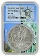 2019 W Burnished Silver Eagle NGC MS70 - Statue Of Liberty Core