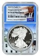 2019 W 1oz Congratulations Set Silver Eagle Proof NGC PF70 Ultra Cameo - White House Core - Donald Trump Label