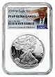 2019 W 1oz Silver Eagle Proof NGC PF69 Ultra Cameo - Donald Trump Label