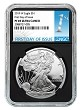 2019 W 1oz Silver Eagle Proof NGC PF69 Ultra Cameo - Black Core - First Day Issue Label