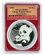 2019 China 10 Yuan Silver Panda PCGS MS69 - First Strike - Red Frame - Flag Label