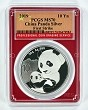 2019 China 10 Yuan Silver Panda PCGS MS70 - First Strike - Red Frame - Flag Label