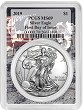 2019 1oz Silver Eagle PCGS MS69 - First Day Issue - Apollo Frame