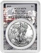 2019 1oz Silver Eagle PCGS MS70 - First Day Issue - Apollo Frame - Presale