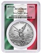 2019 Mexico 1oz Silver Onza Libertad PCGS MS69 - First Strike - Flag Frame