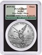 2019 Mexico 1oz Silver Onza Libertad PCGS MS69 - First Strike - Black Frame - Flag Label