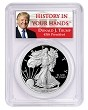 2019 S 1oz Silver Eagle Proof PCGS PR69 DCAM - Donald Trump Label