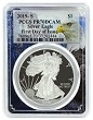 2019 S 1oz Silver Eagle Proof PCGS PR70 DCAM - First Day Issue - Eagle Frame