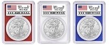 2019 1oz Silver Eagle PCGS MS69 - Red White and Blue Frame - Made In USA Label - PRESALE
