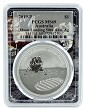2019 Australian Anniversary of the Moon Landing 1oz Silver Coin PCGS MS69 - Space Frame