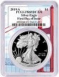 2019 S 1oz Silver Eagle Proof PCGS PR69 DCAM - First Day Issue - Golden Gate Frame
