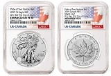 2019 Pride of Two Nations 2pc. Set US Set NGC PF70 - First Day Issue - Flags Label