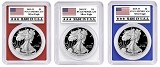 2019 1oz Silver Eagle PCGS PR70 - Red White and Blue Frame Set - Made In USA Label - PRESALE