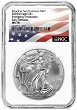 2020 (s) Emergency Production Silver Eagle NGC MS70 - Early Releases - Flag Label