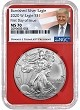 2020 W Burnished Silver Eagle NGC MS70 - First Day Issue - Red Core - Trump Label - Presale