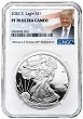 2020 S 1oz Silver Eagle Proof NGC PF70 Ultra Cameo - Donald Trump Label