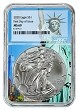 2020 1oz Silver Eagle NGC MS69 - First Day Issue - Statue Of Liberty Core - PRESALE