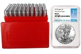 2020 1oz Silver Eagle NGC MS70 - First Day Issue Label - 10 Pack w/Case - PRESALE