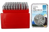 2020 1oz Silver Eagle NGC MS70 - First Day Issue Core - 10 Pack w/Case