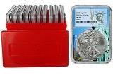 2020 1oz Silver Eagle NGC MS70 - First Day Issue - Statue Of Liberty Core - 10 Pack w/Case