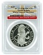 2020 Great Britain Queens Beast White Lion Of Mortimer 1oz Proof Coin PCGS PR69 DCAM - Flag Label
