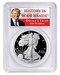 2020 S 1oz Silver Eagle Proof PCGS PR70 DCAM - Donald Trump Label - PRESALE