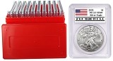 2020 1oz Silver Eagle PCGS MS69 - Made In USA Label - 10 Pack w/Case - PRESALE