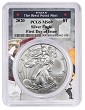 2020 1oz Silver Eagle PCGS MS69 - First Day Issue - West Point Frame
