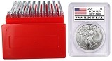 2020 1oz Silver Eagle PCGS MS70 - Made In USA Label - 10 Pack w/Case - PRESALE