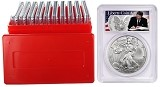 2020 1oz Silver Eagle PCGS MS69 - Liberty Coin Act Label - 10 Pack w/Case