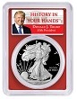 2020 W 1oz Silver Eagle Proof PCGS PR69 DCAM - Red Frame - First Day Issue - Donald Trump Label