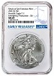 2021 (s) Emergency Production Silver Eagle NGC MS69 - Early Releases - Blue Label