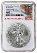 2021 (s) Emergency Production Silver Eagle NGC MS69 - Trolley Label