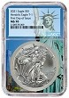 2021 1oz Silver American Eagle NGC MS70 - First Day Issue - Statue Of Liberty Core - PRESALE