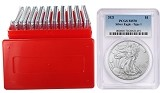 2021 1oz Silver Eagle PCGS MS70 - Blue Label - 10 Pack W/Case - PRESALE