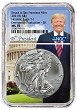 2021 (s) Emergency Production Silver Eagle NGC MS70 -Trump Core